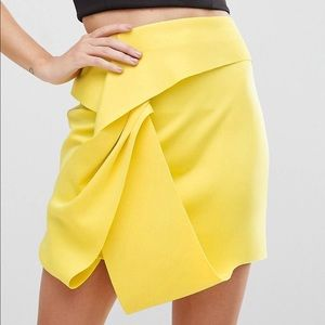 Asos scuba mini skirt with twist detail